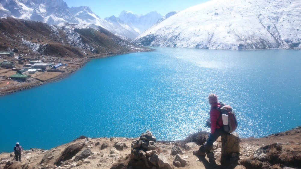 Ram and the heaven feeling lake Gokyo.JPG