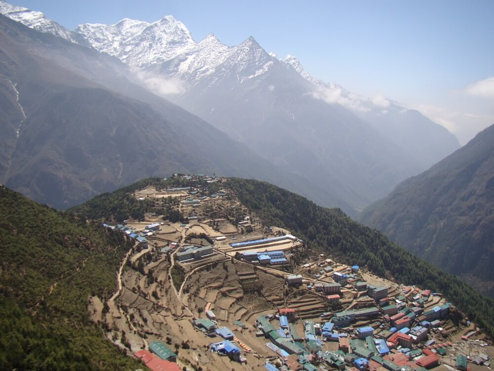 The city of Namche Bazar Everest.JPG
