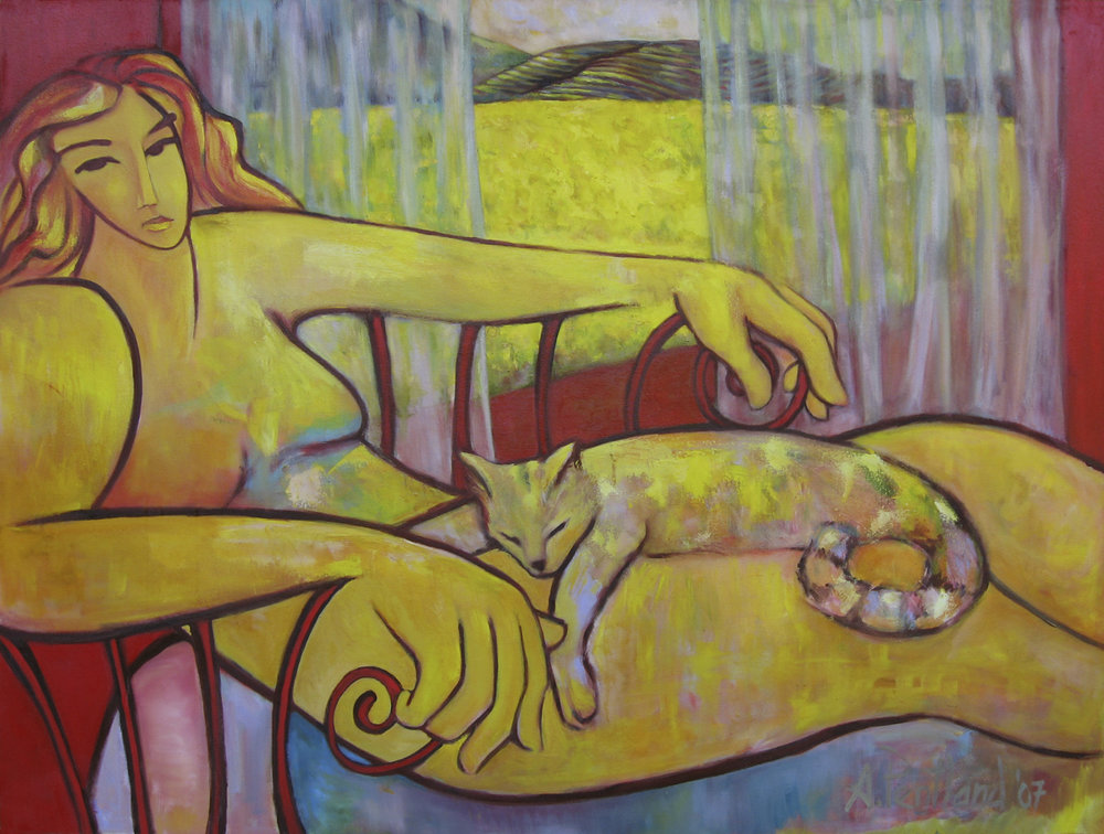 Reclining Yellow Figure