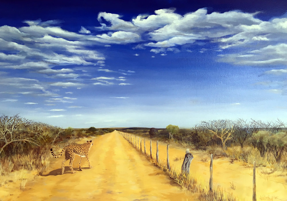 Farm Road in Namiba