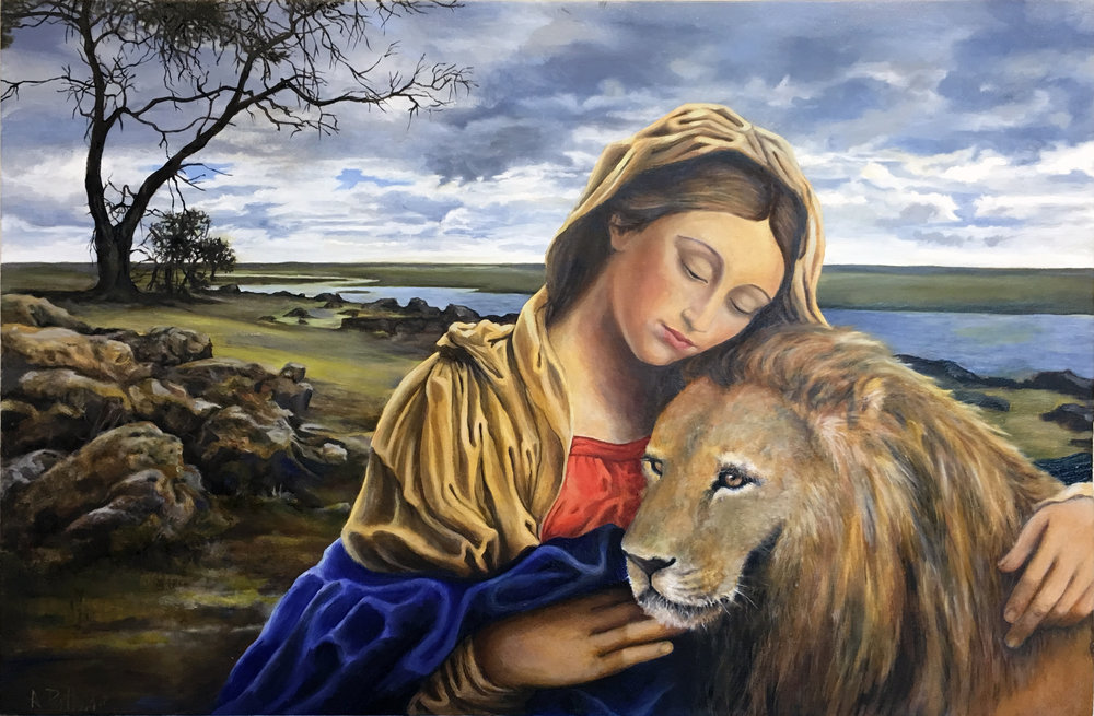 Madonna and Lion (after Giovanni Batista Salvi)