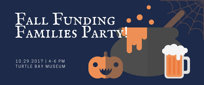 Come celebrate the opening of our fall exhibitions! Special art project in the studio, yummy treats, and Halloween costumes encouraged. Must be Funding Families to attend, but as always, Funding Families are invited to bring another family as guests!  Interested in joining or learning more?  Check out https://www.turtlebay.org/funding-families/