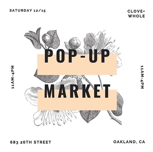 Come see us alongside @cloveandwhole and @housework.store on the 15th for a pop-up market in one of the most beautiful spaces.
