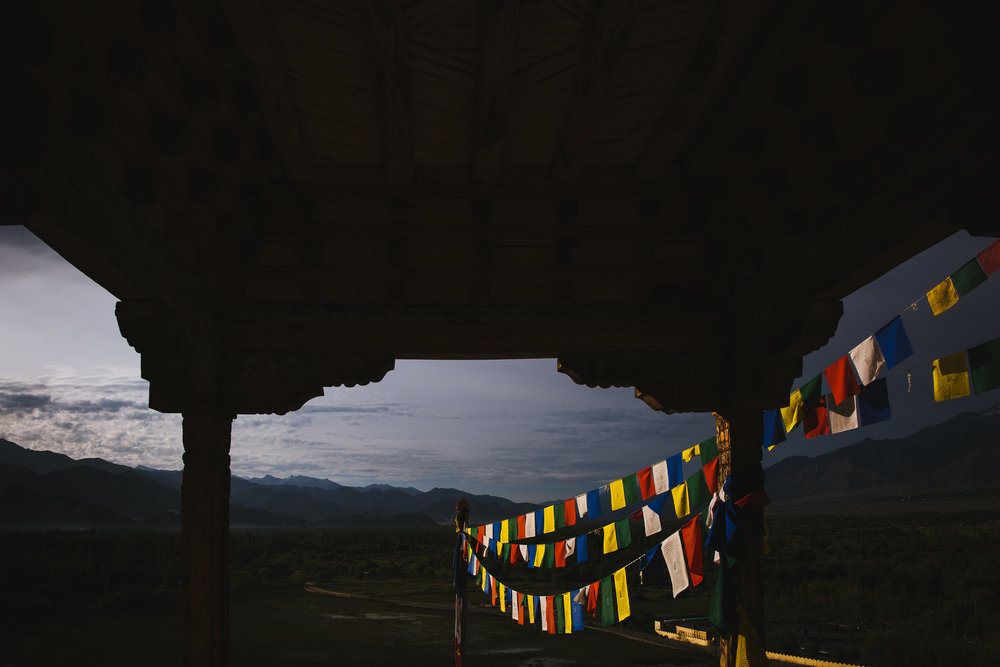 morning prayer flags