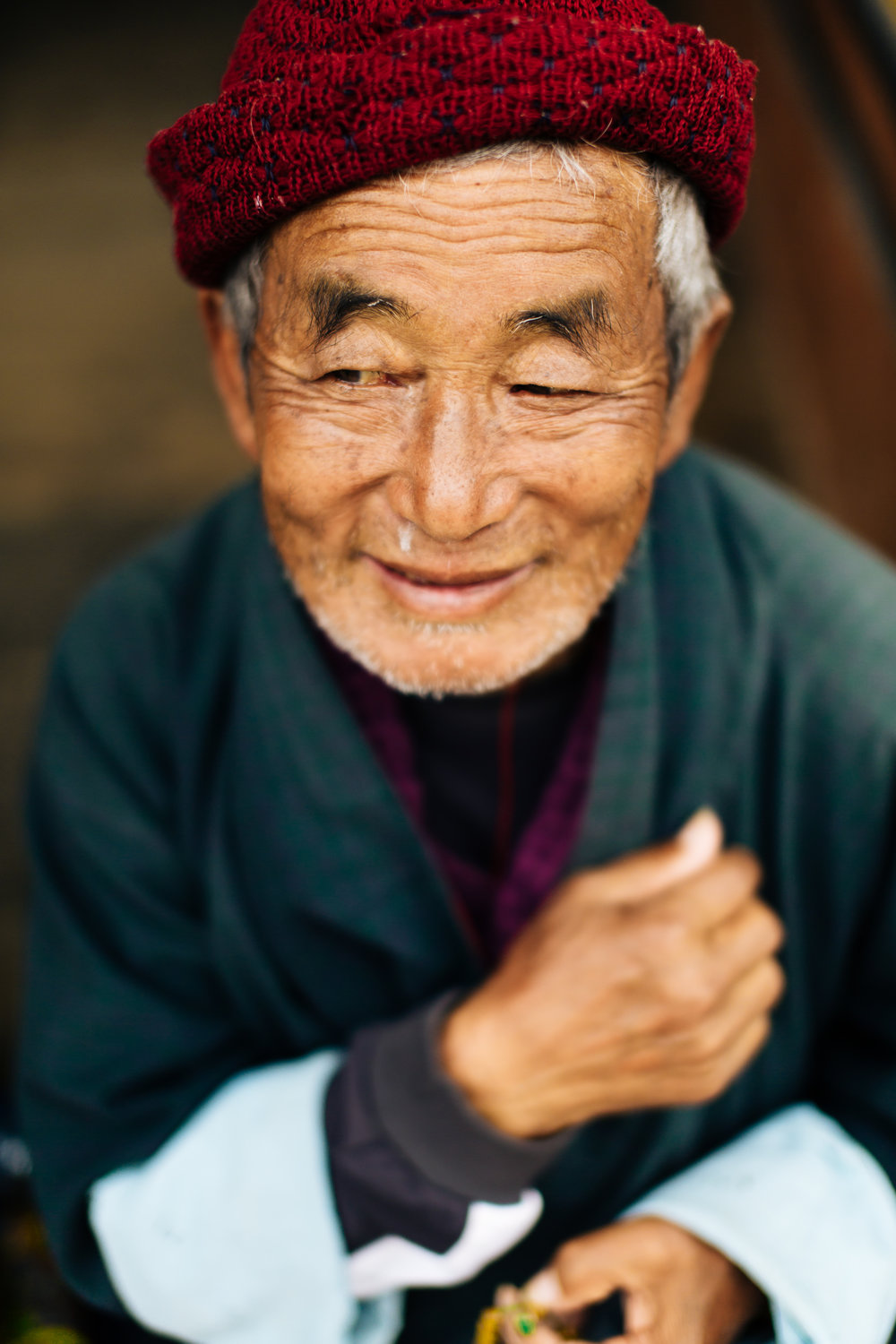 Gentle Bhutanese man