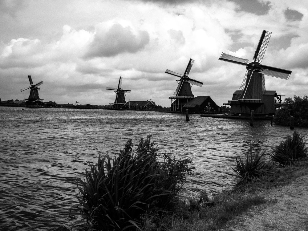 Windmills, Zaandam, North Holland