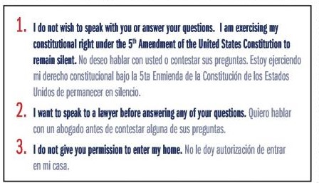 Know Your Rights Spanish Lawyer Criminal Defense Seattle