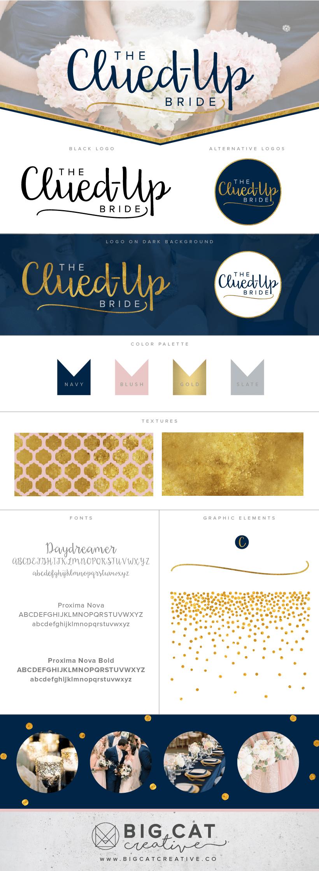 The Clued Up Bride Branding Style Board | Branding + Logo Design