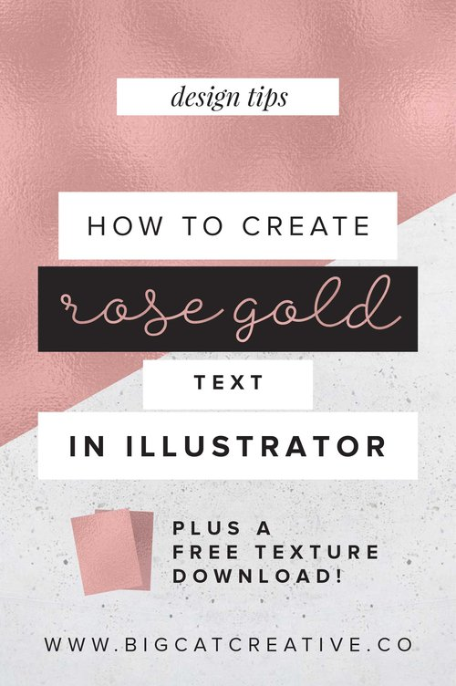 How To Create Rose Gold Text In Illustrator Big Cat Creative