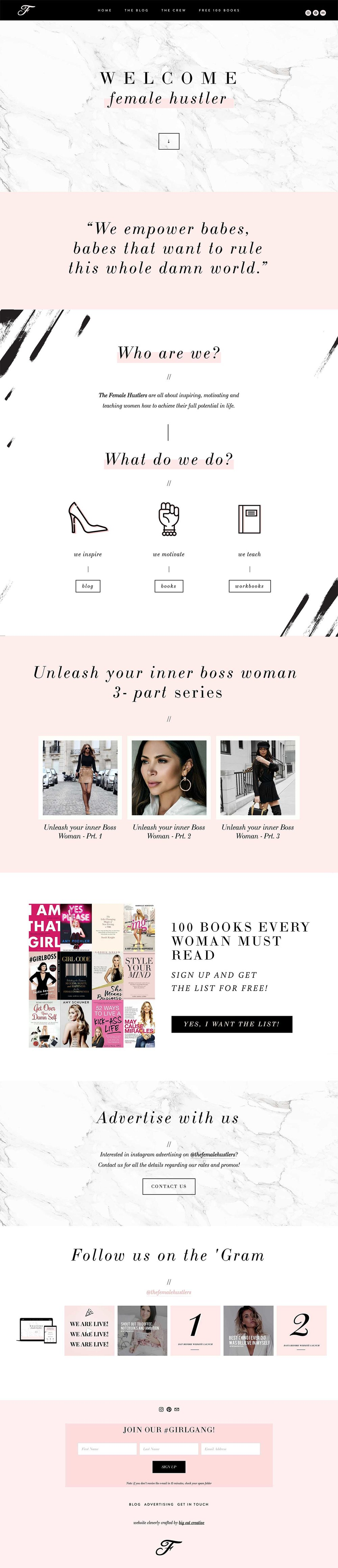 Squarespace Website Design: The Female Hustlers