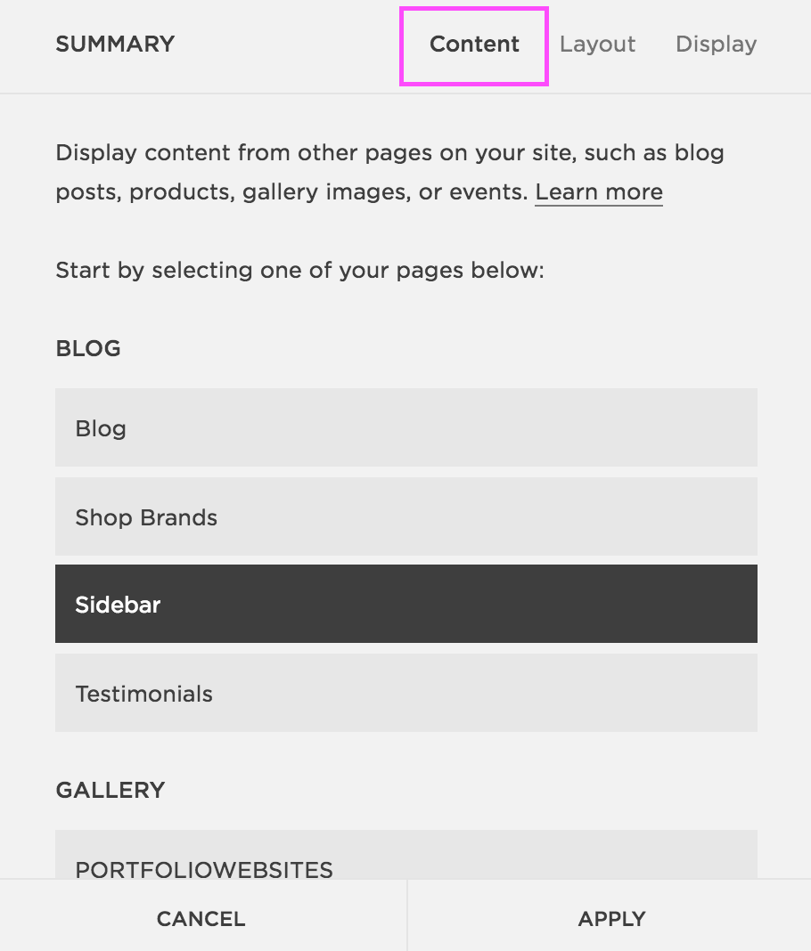 How to Add a Sidebar in Brine Squarespace7.png