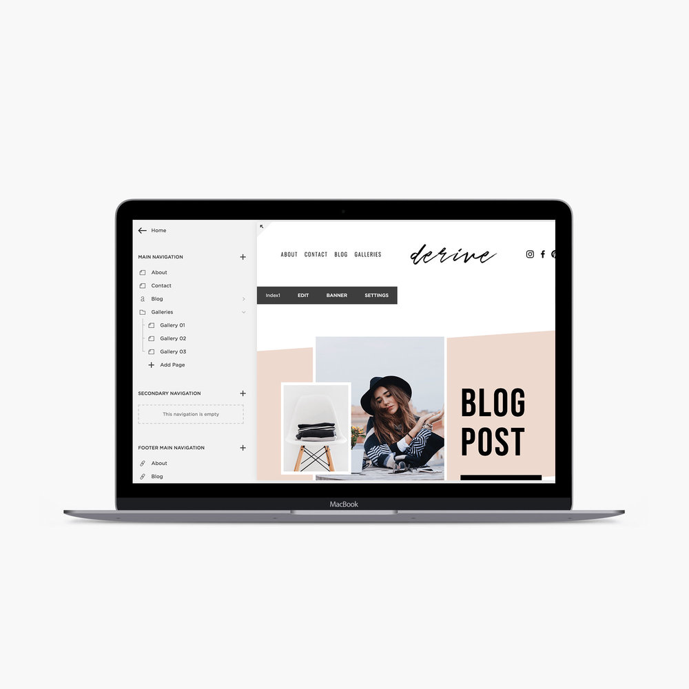 build + launch your website - The private resource page will teach you the basics of Squarespace, how to build your template, how to edit your Photoshop and Canva graphics and much more! When you get to the end of the page, your website will be ready to launch!