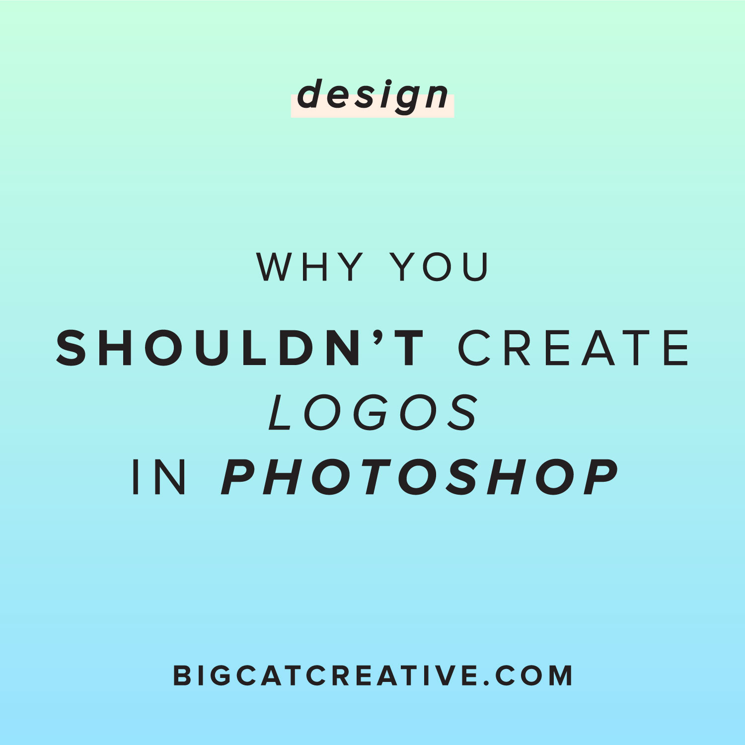 Why You Shouldn't Create Logos in Photoshop — Big Cat