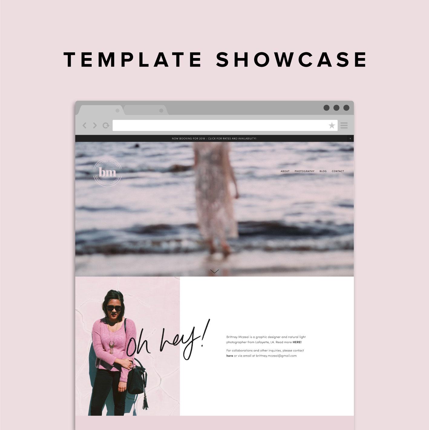 Squarespace Template Showcase Brittney Mczeal Big Cat Creative