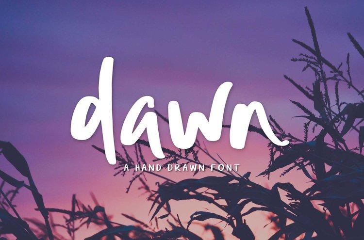 new font dawn handwritten brush script big cat creative