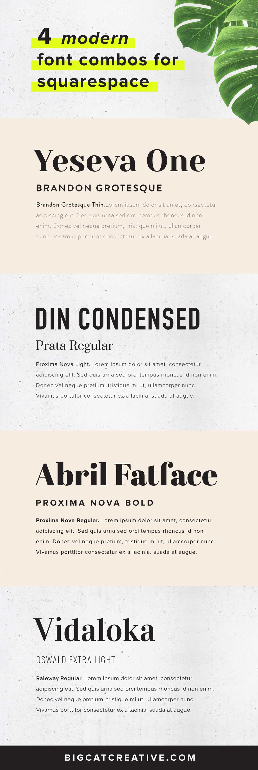 Best High End and Modern Font Combinations for Squarespace