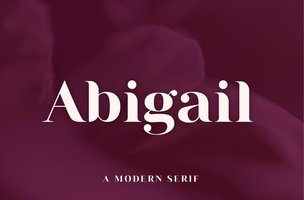 Abigail - A Modern Serif Font by Big Cat Creative