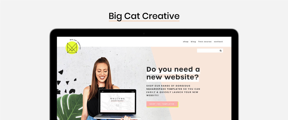 The Best Squarespace Resources - Squarespace Templates and Design Kits - Big Cat Creative
