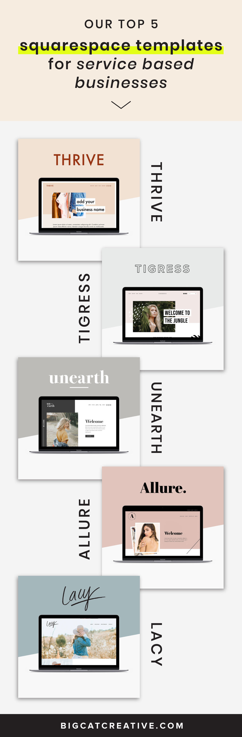 Top Squarespace Templates for Services Based Businesses and Small Businesses