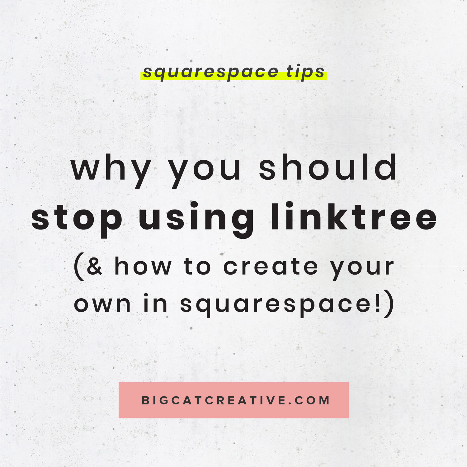 0ef8acad56b Why You Should Stop Using Linktree   How to Create Your Own in Squarespace  — Big Cat Creative