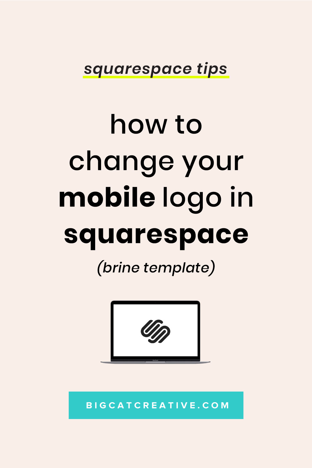 How to Change Your Mobile Logo in the Brine Template Squarespace - Big Cat Creative