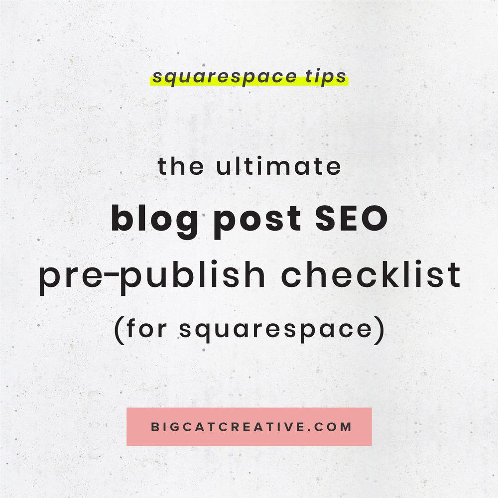 The Ultimate Blog Post SEO Pre-Publish Checklist (for
