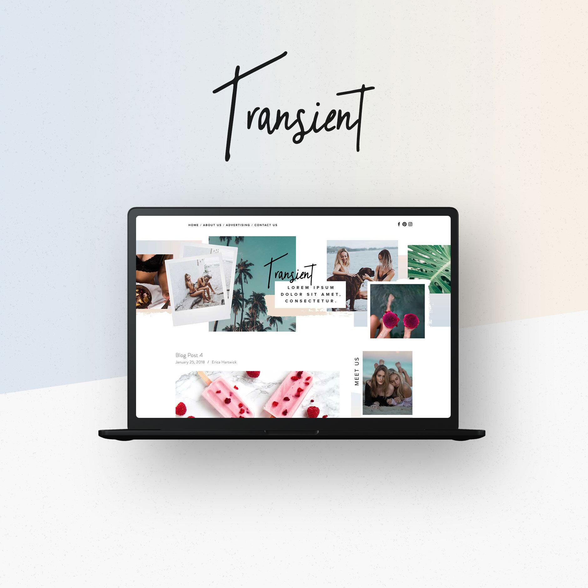 Transient Squarespace Template Big Cat Creative Squarespace