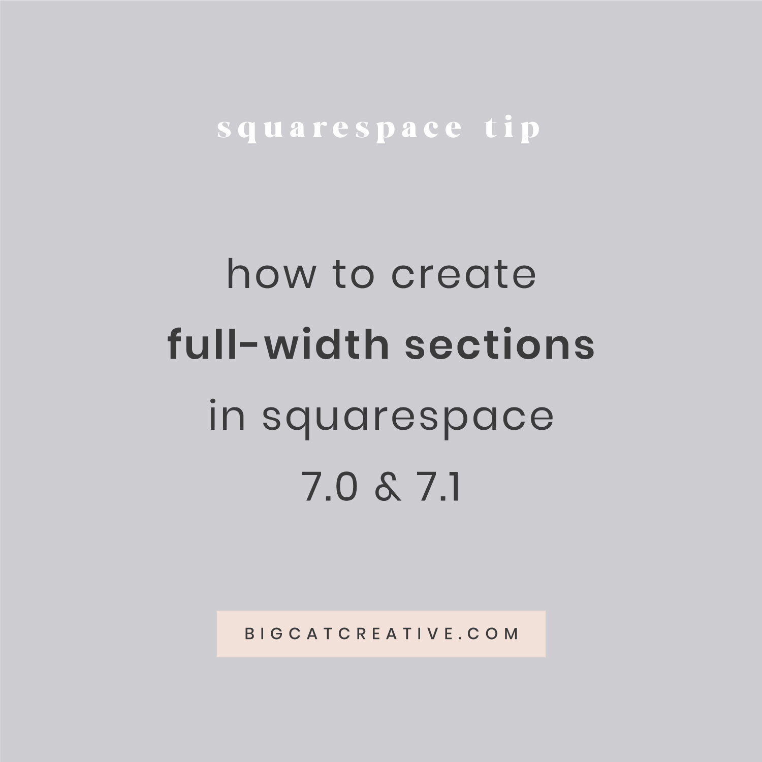 How To Create Full Width Sections In Squarespace 7 0 7 1 Big Cat Creative Squarespace Templates