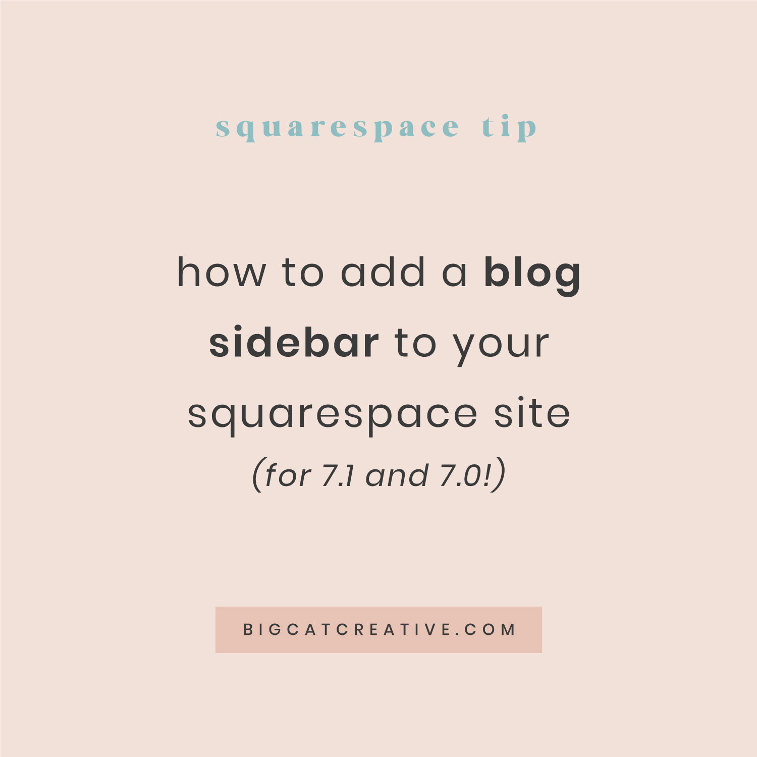 Squarespace Templates With Sidebar | How To Create A Sidebar In The Brine Template Updated Big Cat