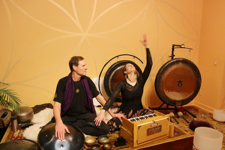 Gong Meditations & Sonic Journeys - Experience gong, crystal sound, harmonium and mantra in a vibrational sound healing to strengthen deep body systems, support the release of unneeded patterns, and open the connection to the Infinite aspects of ourselves. Join us selected Friday nights at Mandala Yoga in SE Portland, Oregon.