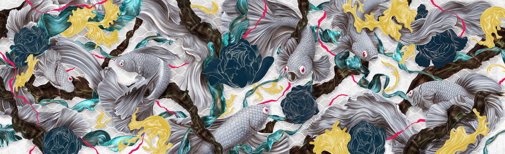 Art of the Siamese Fighting Fish - Collaboration Artwork