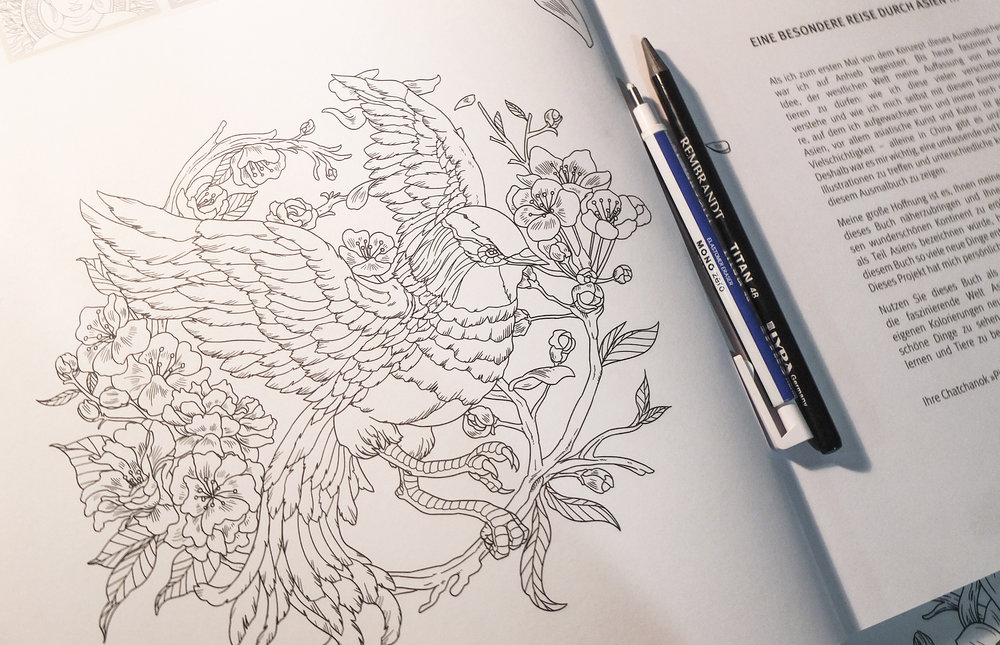 Incomparable Asia - GU Germany coloring book design