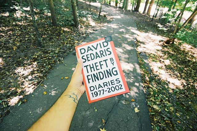 New 📚 has arrived via @bookofthemonthclub 👍🏼✨ - link in bio for more info! . . . #davidsedaris #bookofthemonth #wheredoyouBOTM #bookstagram #theftbyfinding  #bibliophile #readwithus #bingeread #helikesit #road #signal #outdoors #noperson #danger #warning #nature #street #wood #leaf #guidance #summer #business #text #sign #travel  #park #asklisa