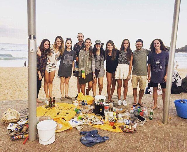 Legends of the evening Manly clean yesterday!! Our last clean for the year will be on the 16th, starting with a lighthouse walk with @balancedstudio stay tuned!