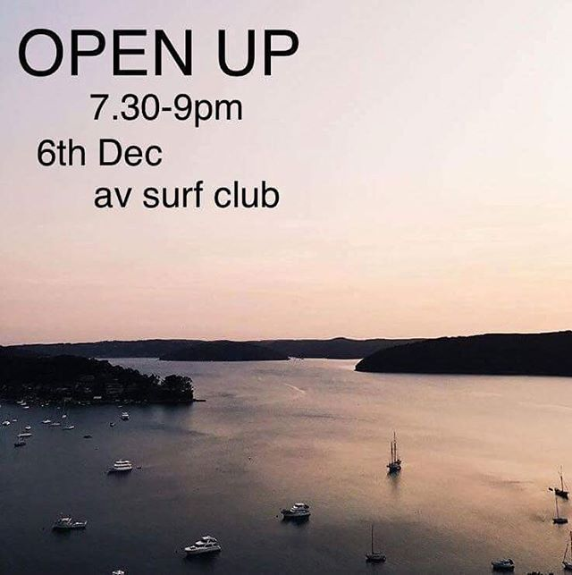 also! as part of our SHAKE IT UP summer workshop collab we're rolling out our OPEN UP program starting tonight! OPEN UP is a free, regular, aa-style safe space where you can come along to share or listen to stories about living with mental illness over a cup of tea. 7.30pm at av surf club ✨