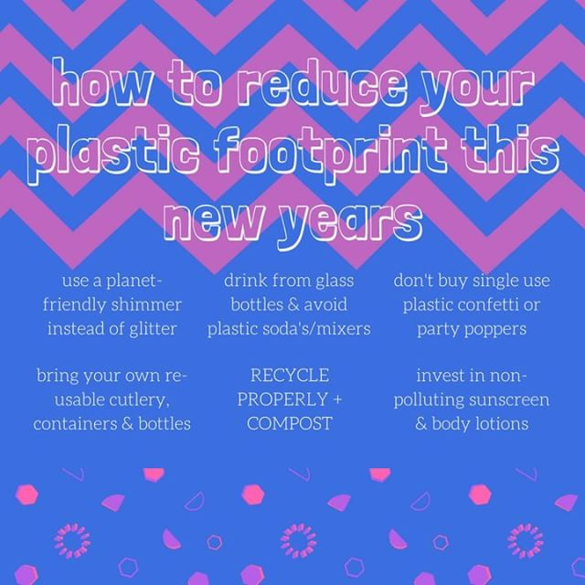 our few ideas on how to stay environmentally-friendly this party season! #nye #plasticfree