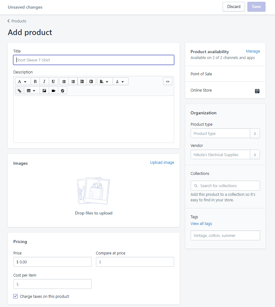 How to create a Shopify store like an expert:    good product descriptions. This is everything you should include to make the most appealing and clickable products in the Shopify marketplace.    NB: Don't forget to save changes (top) before leaving the page.