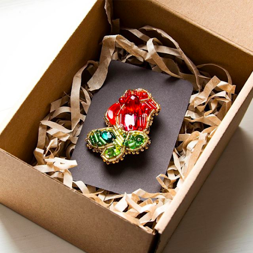 Here's a pretty kraft box made over at Upcycle With Jing to give you inspiration for packaging ideas.
