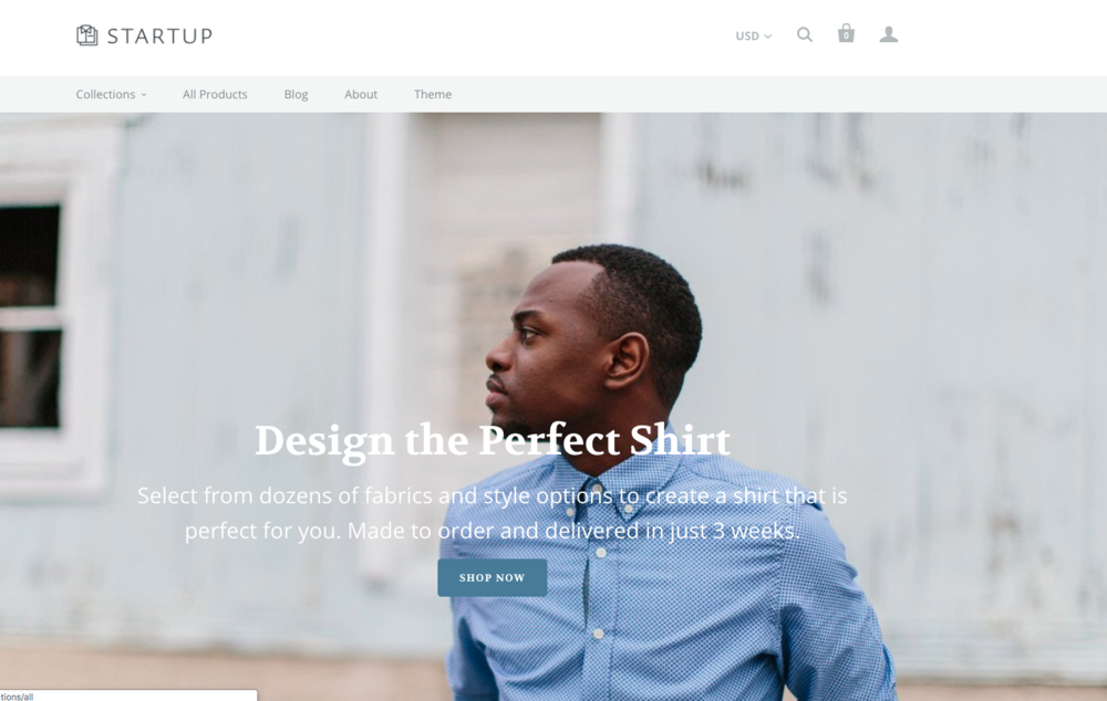 Startup is one of those shopify templates it's hard to forget. So stylish it'll haunt you in your dreams.