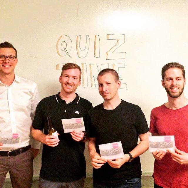 Et voilà, die Gewinner des #ux Pub Quiz! 🎉 Wir freuen uns schon auf die nächste Ausgabe!