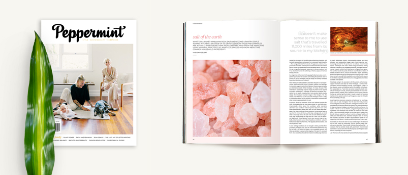 Peppermint magazine story: Salt of the Earth