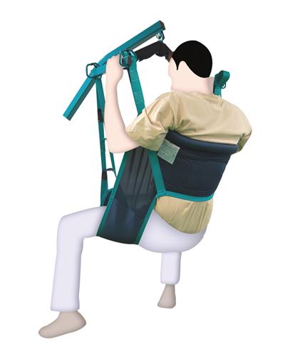 AyudasDinámicas - MODELO FAST FITUn arnés seguro y fácil de poner, con cinturón frontal de ajuste rápido con velcro. Es el arnés preferido en las instituciones, e para usarlo en el WC