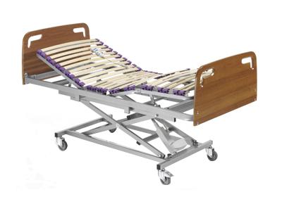 Sunrise Medical - Itxaso - Cama articulada con somier fijoCabecero y piecero de madera DM de alta calidad.Disponible con patas o con carro elevador.