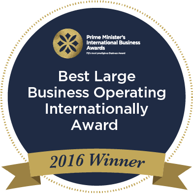 IBA 2016 - Best Large Business Operating Internationally Award.png