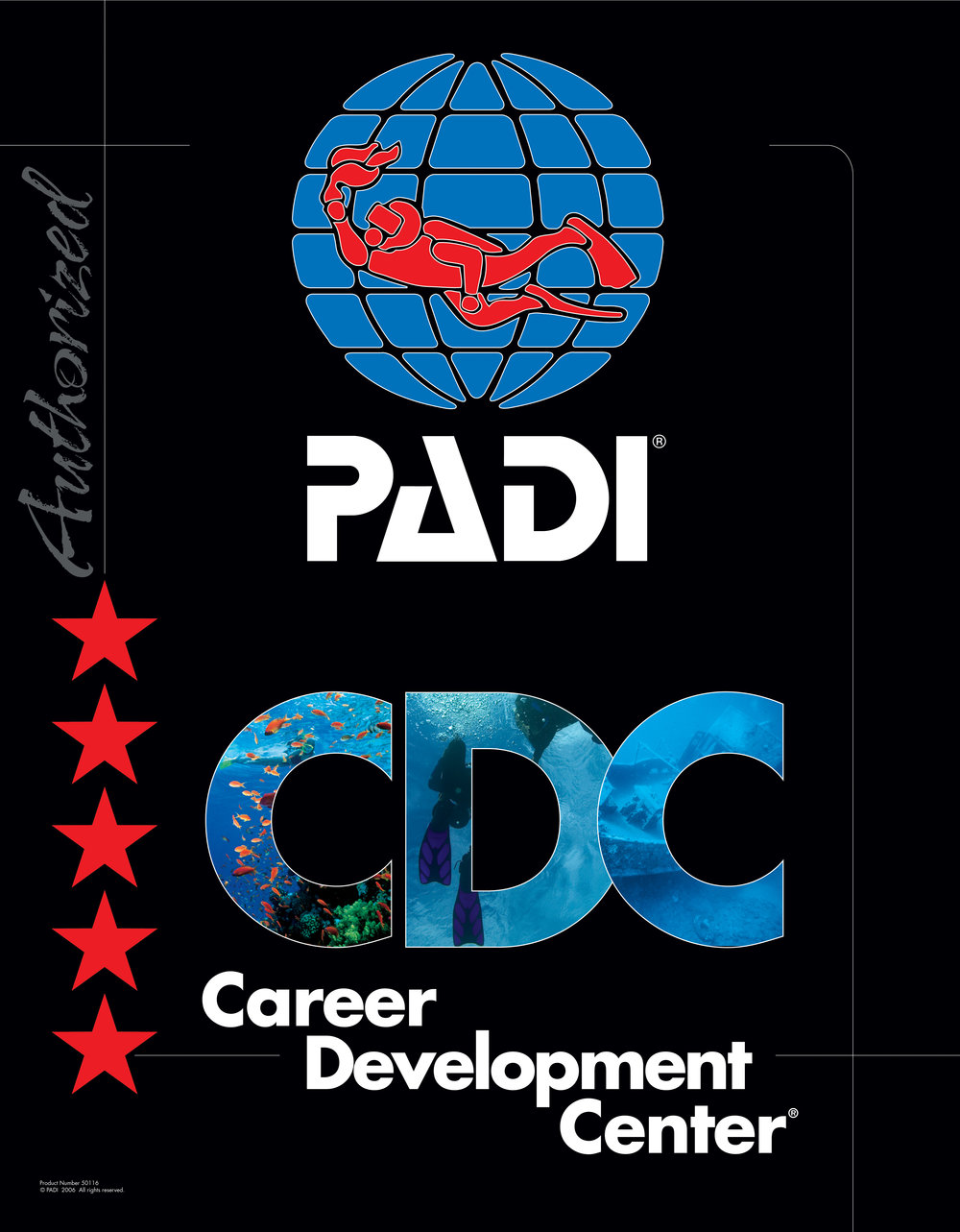 PADI Blue Corner CDC IDC Five Star
