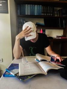 Student Reading PADI Manuals