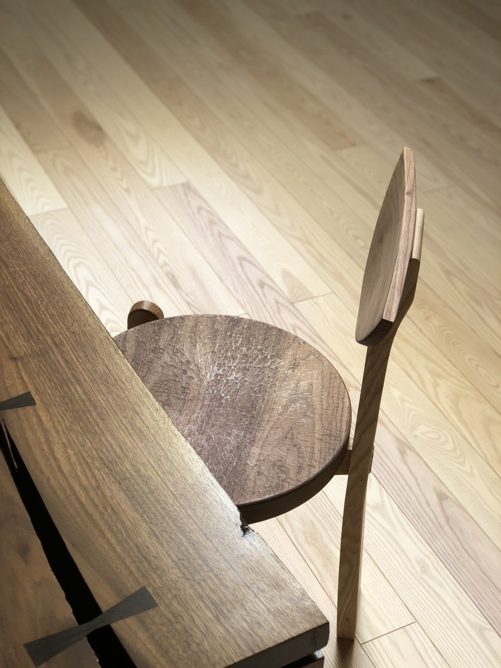 - Our use of these tools and techniques is a result of time spent working with them and alongside the Japanese craftsmen who use themFine woodworking is still commonplace throughout Japan, and our time there has inspired us to emulate their meticulousness and dedication to their work[ pictured - Walnut Dining Table and Maru Chair ]
