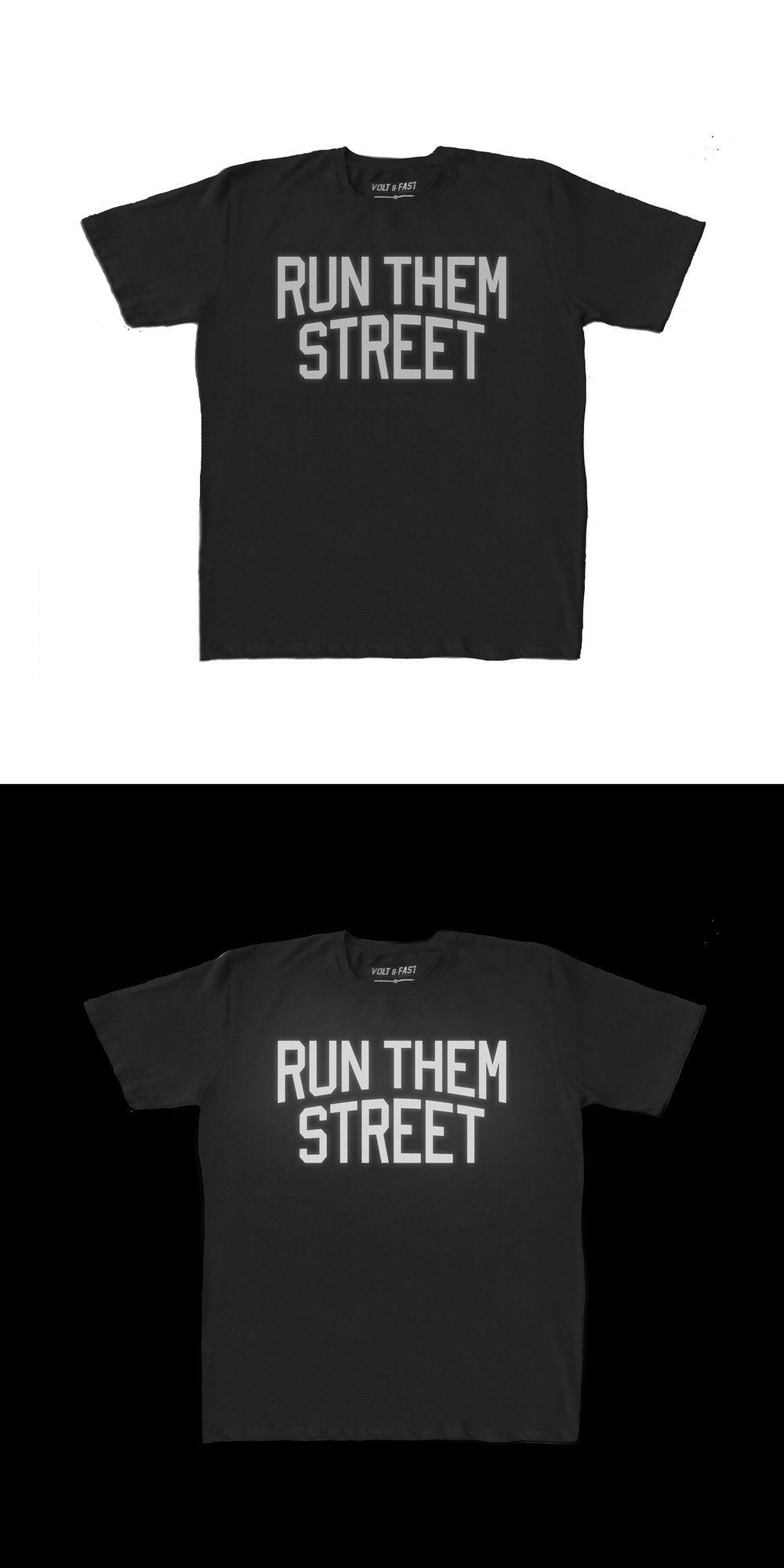 RUN THEM STREET   Never Not Running Collection  Features:  - Cotton spandex fabric - Printed with reflective ink - Reflective label - Regular fit  Rp 250.000
