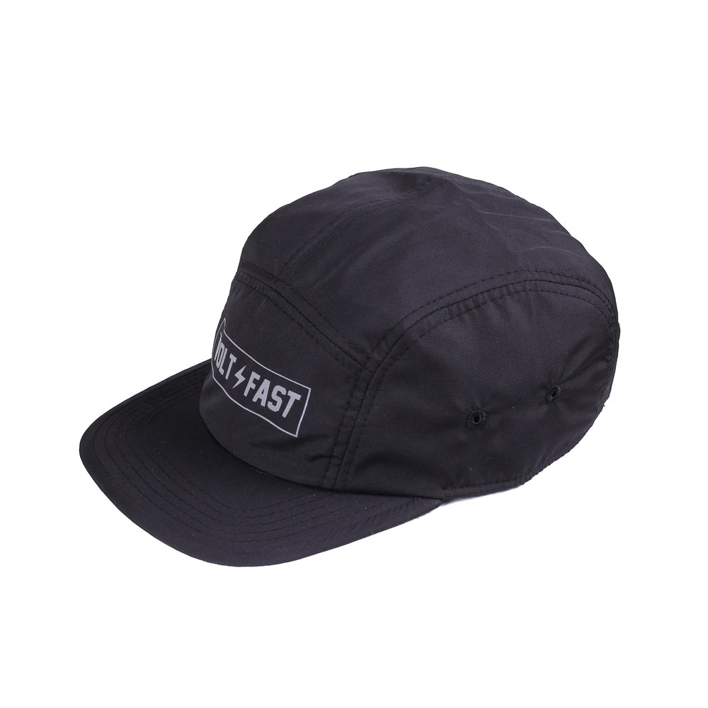5 Panel Logo Box   Basic Collection  Features:  - High performance nylon fabrics - Printed in reflective heat press method - Mesh fabric liner - Adjustable straps with centre release buckle - Reflective side tab label  Rp 250.000