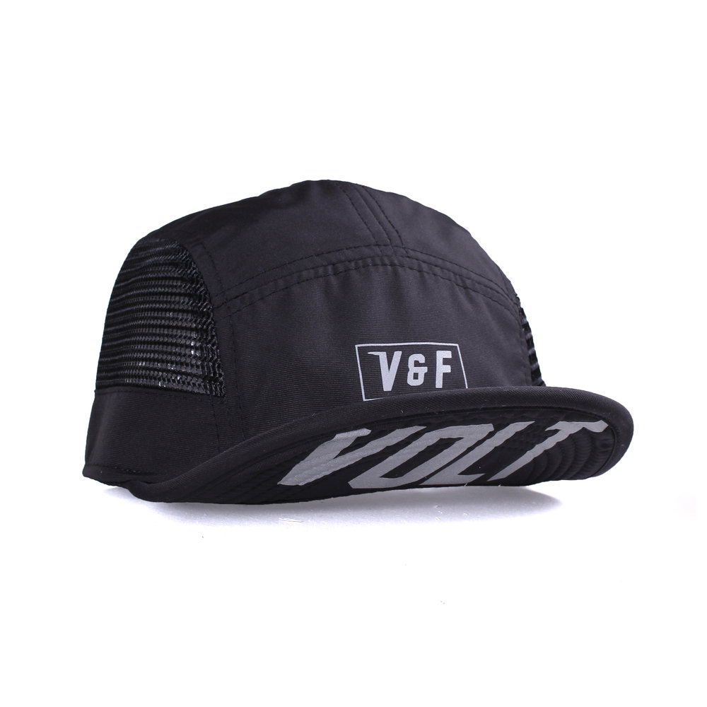 5 Panel Mesh - Team Volt   Basic Collection  Features:  - Soft billed - High performance nylon fabric & mesh fabrics - Printed in reflective heat press method - Mesh fabric liner - Adjustable straps with centre release buckle - Reflective side tab label  Rp 250.000